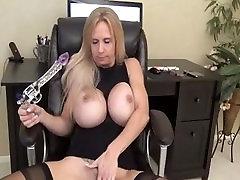 Big Breasted MILF Pleasuring her Wet Pussy