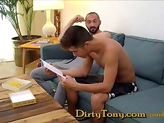 Hairy daddy fucks his by