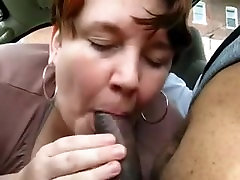White makita maria massage woman sucking black cock in car