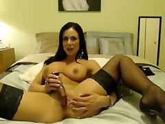 hot brunette milf shows of big tits and pussy on webcam - sketcams.com
