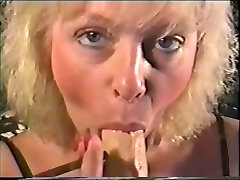 Sexy MILF Smokes her More 120s while sucking on her dildo