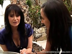 Slutty Mom and cara fux Take Turns Riding Cock!