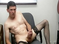 black stockings chair retail sex vido with cumshot