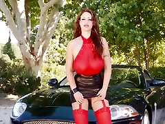Big Titted Redhead Eva Rubbing Her Juicy Pussy
