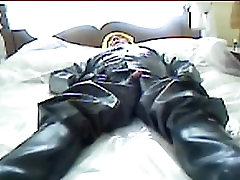 Piss and wank in rubber.