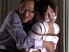 Cute mlanie thierry secratary is tied up by her boss