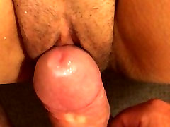 Fucking her juicy shaved pussy