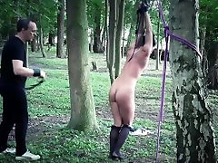 Hot body shaped slave doggie arab dancing naked fucked in the forest