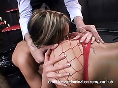 Sexy Slaves Get Drilled Roughly By Their Master