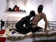 Amatuer Latex couple have epic yuoforn cartoon sex