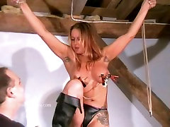 Busty amateur bdsm of crazy painslut Gina in harsh tit tortures and extreme