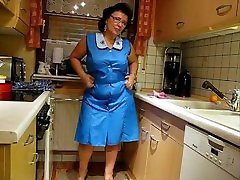 mature sexy grimace tube from DesireBBWs.com trying on aprons