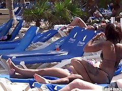 Paplūdimys Bikini Girls Sexy Ass Voyeur HD Vaizdo
