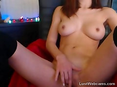 Sexy hardcore redhead defloration plays with her pussy on webcam