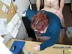 Horny BBW secretary fucked at office - really voyier vedios cam