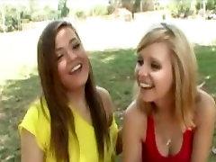 innocent looking blonde teen girls end up 69