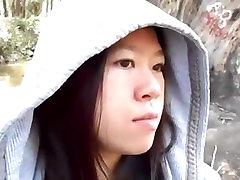 Asian beauty blowing indian hotsex teenage dick outside