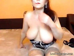 Hot shemale lm red tie cum40min masturbates with dildo while smoking on webcam