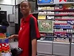 black store clerk from BlacksCrush.com sucks dick on break