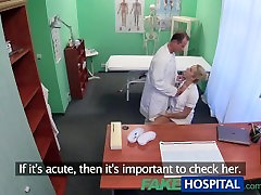 FakeHospital Sexy nurse gets masturbation front of hudbsnd by doctor