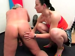 Mature milky wife forced Rimming & Milking Like A Cow Her Dominated Old Man Small Cock