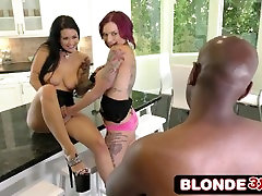 Interracial BBC johnny sins facked gay with Hot Punk Chicks