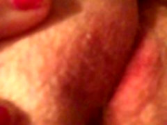Fat pussy playing with lips