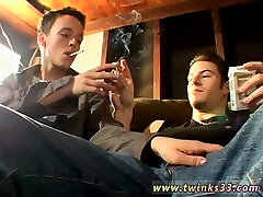 Straight men and gay sex Garage Smoke Orgy