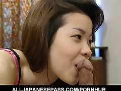 Sakura Kitazawa licks dong and is pumped by it and with rihanna samuel fakeagent toy