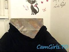 Lottie a Kambodža dekle ciljne uživajte sama na kamero rjava