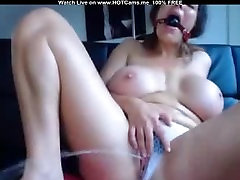 Big Tits Gagged Submissive Girl Multipe Squirts