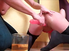 Spanking Punishment, Rough Dildo Pussy Fucking and Huge Doggystyle Squirt.