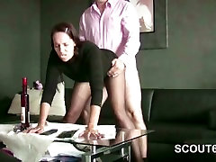 German MILF Hooker in Nylon get Fuck for Money
