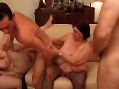 Mature xvideo by akhi alomgir women with Massive tits in a filthy messy Gangbang