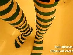 Pissing in my St Patricks Day Socks!