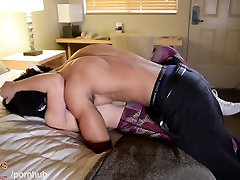 Young Muscle Black Stud Loses His Virginity To Hot he crus Girl.