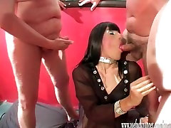 Horny crossdresser slut has group hot hd sexy move party with loads of spunking cock