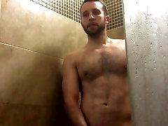 Hairy hole stranger Shower Cum