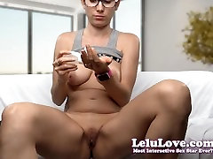 Lelu Love-Masturbating With Dildo And Vibrator In Glasses