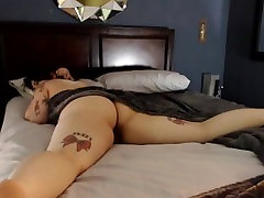 Big Booty Busty Chubby Chick rolls around in the sheets Butt Naked!!!