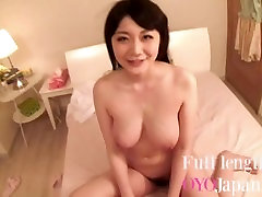POV Fucking cute hot dancing girk Japanese girl with big boobs - cum on tits HD Rie