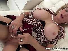 British Milf aryans adan Sonia home alone masturbation and tit play