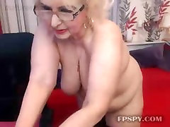 Blonde old bbw