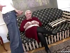 Mature Honey Blowing Two Guys