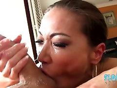 Asian Deepthroat queen Kalina Ryu worships and devours cock n eats asshole