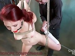 Bondage And Suffering For Gorgeous Redhead