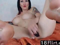French pornstar CarrickDefloree with huge bbc fuking creampie masturbates 18flirt