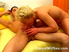 Hot Mature mom from CasualMilfSexdotcom fucks young guy in the bedroom