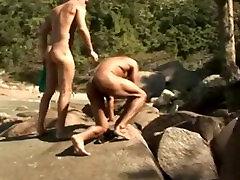 Hunk Latino Gays Intimate Outdoor Sex