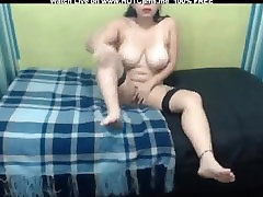 Big Tits Colombian Teen With Stockings Masturbate